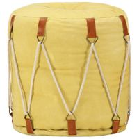 Puf żółty 40x40cm płótno bawełniane VidaXL