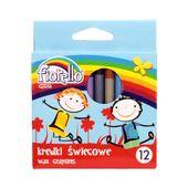 Kredki woskowe, świecowe 12kol Fiorello - OKAZJA !!! zdjęcie 2