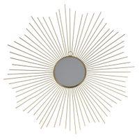 Lustro ścienne ZŁOTE dekoracyjne w złotej ramie