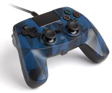 Gamepad snakebyte PS4 przewodowy niebieski kamuflaż 4 S