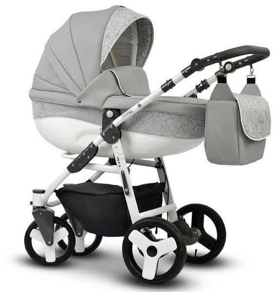 Wózek dziecięcy Cosmo EKO MIX szary Vega stelaż + gondola zdjęcie 1