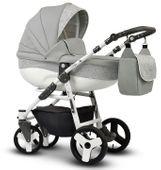 Wózek dziecięcy Cosmo EKO MIX szary Vega stelaż + gondola