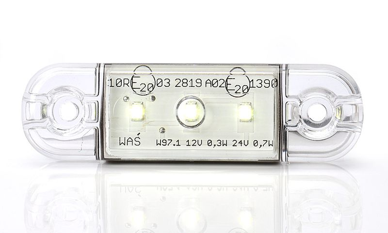 Lampa LED pozycyjna przednia biała 3LED (710) na Arena.pl