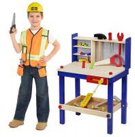 Warsztat Drewaniany Dla Dzieci z Narzedziami 30 elementów Y101