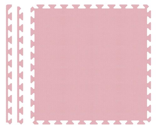 PUZZLE PIANKOWE MATA 4szt 62x62x1,1 cm Pastelowy Róż na Arena.pl