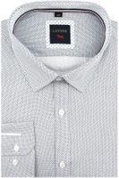 Duża Koszula Męska Laviino biała we wzorki na długi rękaw Duże rozmiary A237 5XL 49 182/188