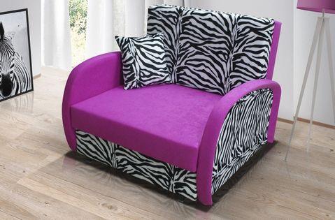 Sofa rozkładana ZUZIA z pojemnikiem, fotel
