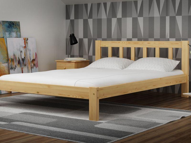 łóżko 140x200 Ofelia Wysoki Zagłówek Stelaż