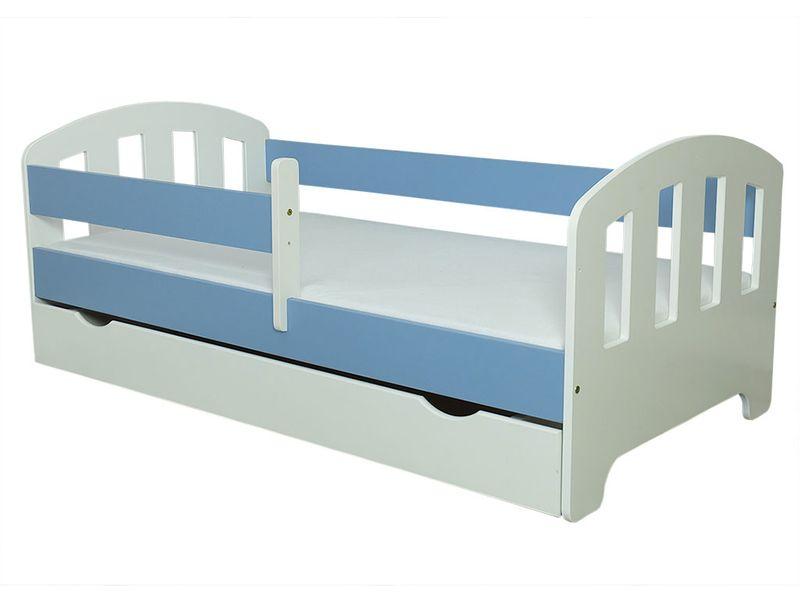 Łóżko FIFI 140x80 + szuflada + barierka zabezpieczająca + MATERAC zdjęcie 12