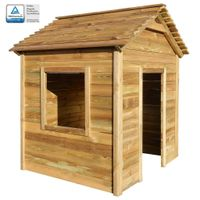 Ogrodowy domek do zabawy, 123 x 120 x 146 cm, drewno sosnowe