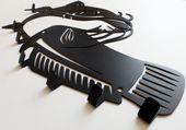 Metalowy wieszak ścienny na ubrania klucze - RYBA SUM zdjęcie 4