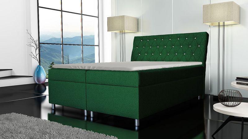 Łóżko tapicerowane kontynentalne 140x200 z materacem pojemnikiem zdjęcie 7