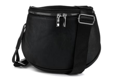 Czarna saszetka nerka przez ramię plecak torba HIT Q24