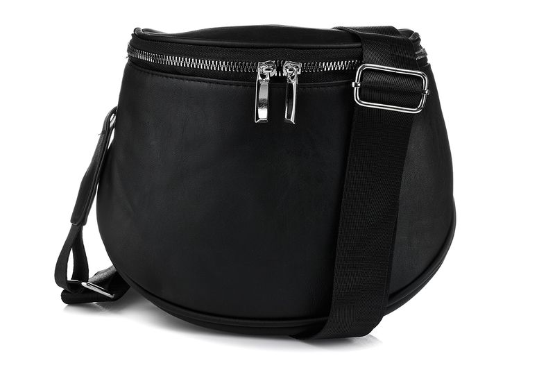 Czarna saszetka nerka przez ramię plecak torba HIT Q24 na Arena.pl