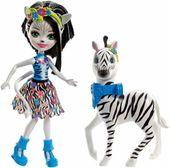 Enchantimals Lalka Hoofette i zebra Zelena