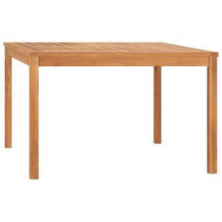 Lumarko Stół ogrodowy, 120x120x77 cm, lite drewno tekowe!