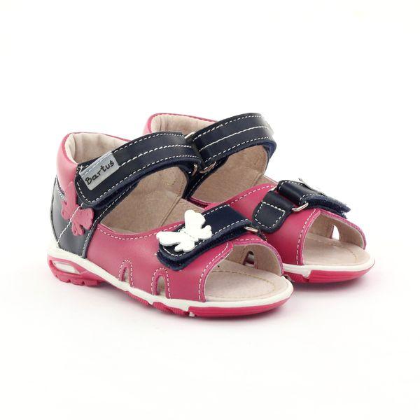 Sandałki dziewczęce motyl Bartuś różowe r.21 zdjęcie 5