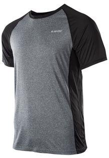 Koszulka męska Hi-Tec Keno szaro-czarna rozmiar L