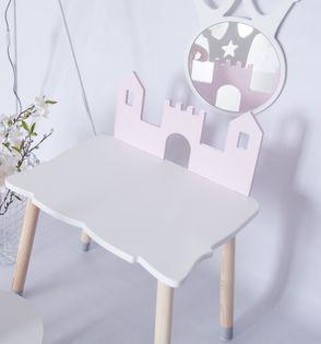Stolik stoliczek dla dzieci z zamkiem zamek