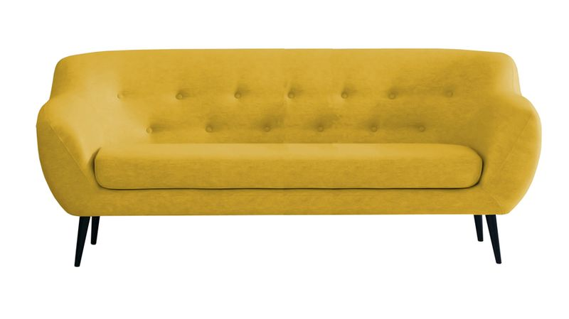 Sofa FINKA 3 PIK kanapa skandynawska vintage retro szara prl RIBES zdjęcie 3