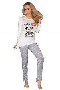 Piżama S/M wiskoza długi rękaw spodnie USTA