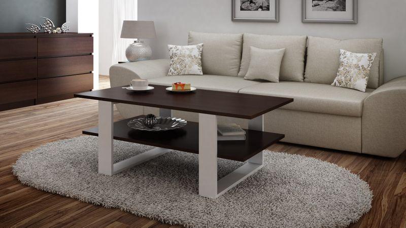 ława stolik kawowy salon 120x55x60 wenge mix zdjęcie 3