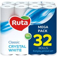 Papier toaletowy Ruta Classic Crystal White 32 rolki