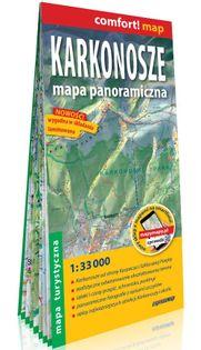 Karkonosze Mapa panoramiczna laminowana mapa turystyczna 1:33 000