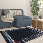 Dywan nowoczesny niebieski Etnic 01 Wymiary - 120 x 170 cm