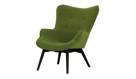 Fotel uszak Ducon Ontario 36 zielony, nogi czarne