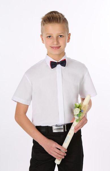 Biała koszula komunijna, krótki rękaw. 86 zdjęcie 1