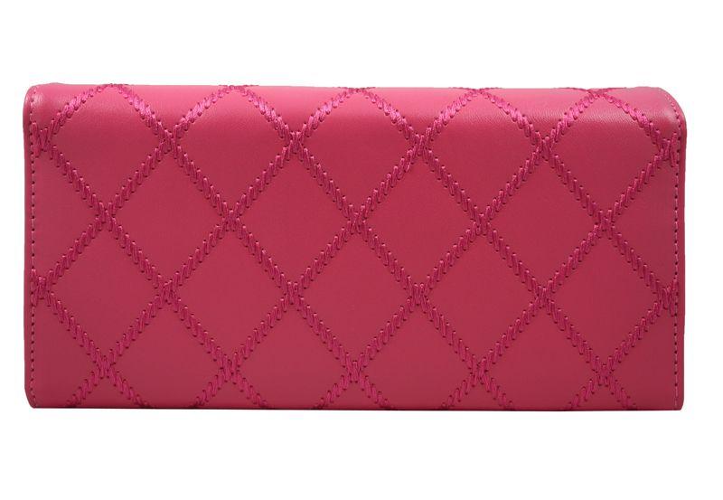 878d61b6b4b28 Elegancki pikowany portfel damski kopertówka