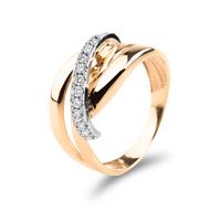 Złoty pierścionek z cyrkoniami ROZMIAR - 10