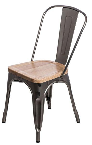 Krzesło Paris Wood metali. sosna natural D2 zdjęcie 10