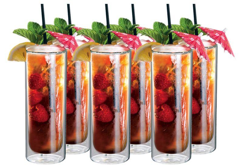 Szklanki Termiczne z Podwójną Ścianką do Mojito Napojów Soków Drinków zdjęcie 1
