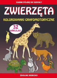 Zwierzęta Kolorowanki grafomotoryczne Guzowska Beata, Zakierska Tina
