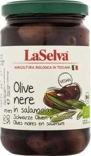 Oliwki czarne w zalewie BIO 310 g Laselva