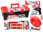 Skrzynka z narzędziami Dla Dzieci Wiertarka Warsztat 37 elementów Y278