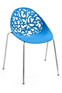 Stylowe krzesło ażurowe VIVIEN do salonu ogrodu na taras BLUE