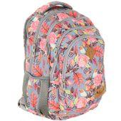 Plecak szkolny młodzieżowy Astra Hash HS-11, w ptaszki i kwiaty