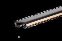 Listwa poręczowa PCV LUX, poręczówka 40x8mm czarny/krem 1 mb