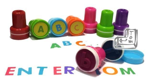 PIECZĄTKI dla dzieci stempelki LITERKI alfabet zdjęcie 4