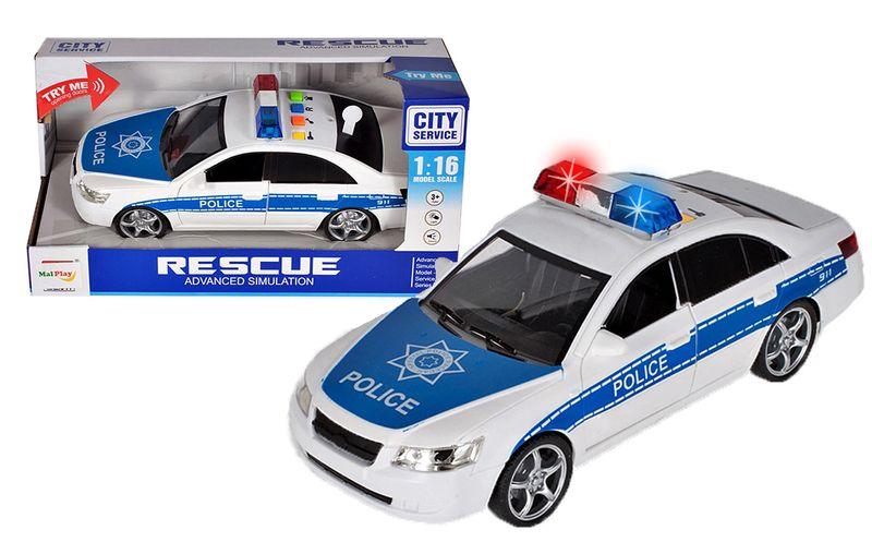 Samochód policyjny Radiowóz interaktywny dźwięki i światła Y260 zdjęcie 13