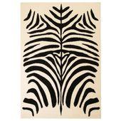 Nowoczesny dywan, wzór zebry, 120x170 cm, beżowo-czarny
