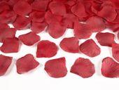 Sztuczne PŁATKI RÓŻ ślub wesele konfetti 100 szt czerwone