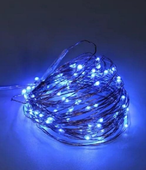 MIKRO LAMPKI LED DRUCIK 100 NIEBIESKIE NA BATERIE