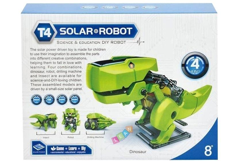 Robot Dinozaur SOLARNY Kreatywna Zabawaka 4w1 zdjęcie 2