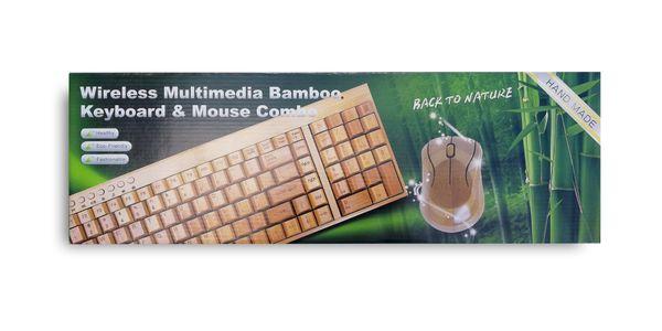 PROMOCJA mała bambusowa KLAWIATURA i mysz ZESTAW