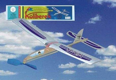 Model Samolotu Z Napędem Gumowym KOLIBEREK