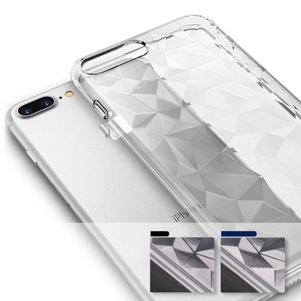 Ringke Air Prism Designerskie Żelowe Etui Pokrowiec 3D Iphone 8 Plus / 7 Plus Szary (Apap0008) zdjęcie 7